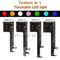 substituição led iphone venda por atacado-Brilho da noite led light back logotipo touchable substituição para iphone 7 7 plus 6 6 s moda luz para iphone 6 plus 6 s plus 7 cores kits de luz