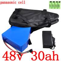 bateria de iões de lítio telemóvel venda por atacado-Tax Free 2000W 48V 30AH 48V 30AH bateria elétrica de bicicleta bateria ebike 48V Lithium ion Battery usar carregador de telefone celular Panasonic com 5A