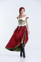 flügel für kostüme großhandel-Frauen Cosplay Kleid Bayerische Traditionelle Kostüme Thema Kostüm Deutschland Bier Festival Halloween Lustig Sexy Kapuzenoberteile mit Fledermausflügel