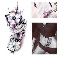 Wholesale tattoos women sex for sale - Group buy Flowers Colored Fashion Waterproof Temporary Tattoo Sticker Women Sex Flash Fake Tatoo Tatto Henna Red Blossom Flower Tree L58