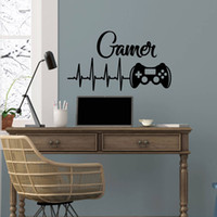 Wholesale cartoon video game controller resale online - Gamer Wall Decal Game Controllers Gaming Vinyl Sticker Decals Video Boys Room Decor Bedroom Playstation Nursery Art