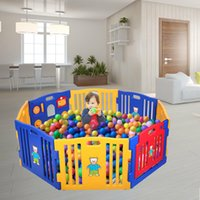 Wholesale play yard baby for sale - Group buy Baby Playpen Kids Panel Safety Play Center Yard Home Indoor Outdoor Pen New