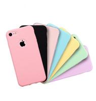 тонкие телефоны оптовых-Ультра тонкий дешевый конфеты цвета чехол для телефона для iphone XS MAX XR X 6S 7 8 плюс