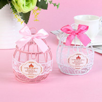 Wholesale romantic candy gifts for sale - Group buy Wedding Favor and Gifts Candy Box European Creative Iron Romantic Bird Cage Candy Box Cute Ribbon Metal Gift Box Wedding Decor