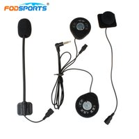 casque interphone achat en gros de-Fodsports T9S Intercom Casque Moto Bluetooth Casque Casques Écouteurs Casque Intercom Écouteurs Stéréo Musique