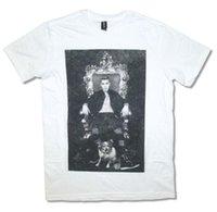 ingrosso nuova immagine della camicia bianca-Justin Bieber Throne Dog Image Maglietta bianca per adulti Nuovo ufficiale