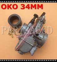 quads schmutzfahrräder großhandel-OKO PWK34 PWK 34 34 MM Rennmotorrad Vergaser Roller ATV QUAD DIRT BIKE Go Kart