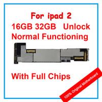 ursprüngliches ipad 16gb großhandel-100% ursprünglicher freigesetzter sauberer iCloud Mainboard 16GB / 32gb / 64gb Für ipad 2 Motherboard mit Chips, gutes Funktionieren