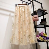 Wholesale fleabane skirt for sale - Group buy skirts new female spring summer a word skirt of bitter fleabane bitter fleabane skirt long fairy long