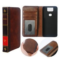 Wholesale asus cell phones for sale - Group buy Flip Leather cell Phone Case for ASUS Zenfone Cover Wallet Retro Bible Vintage Book Business Pouch