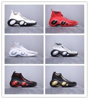 ojos de revestimiento al por mayor-2019 recién llegado de vuelo Bonafide blanco negro rojo zapatos de baloncesto de alta calidad para hombre Big Eye Flying Line entrenadores zapatillas deportivas TAMAÑO 40-46