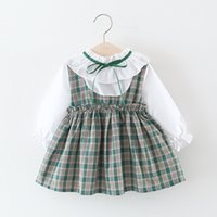 Wholesale green plaid dress for sale - Group buy Baby Girls Princess Dresses Plaid Ruffle Mini A Line Dress Baby Girl Clothes Girls Autumn Dress