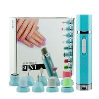 9 in 1 Electric Manicure and Pedicure Set, Electric Nail File Sharper Trimmer Manicure Drill Cuticle