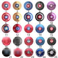 Wholesale fast toys for sale - Group buy Fidget Spinner Toy American Captain Design Fast Bearing Spider Finger Hand Spinner gyro EDC ADHD Rotation Anti Stress Aluminum alloy Man
