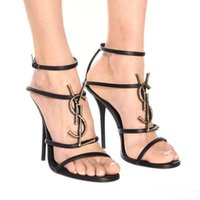 Wholesale t buckle sandals for sale - Group buy 2019 Brand New Woman Shoes Summer Buckle Strap bamboo joint Sandals Luxury High heeled shoes Fashion Single High heel