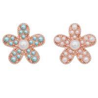 pulseira de ouro rosa venda por atacado-5 pcs New 18mm Starfish Botões Snap Jóias pérola rosa Botões de ouro Snap Jóias Fit 20mm Moda Pulseira Colar