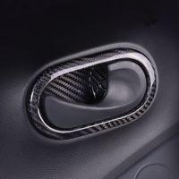 ingrosso benz smart fortwo-Autoadesivo della copertura della maniglia della porta della porta interna della fibra di carbonio Assetto adesivo per Benz Smart fortwo forfour 2015 2016 2017 Styling