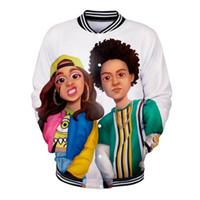 casacos de baseball 3d venda por atacado-Casual Brasão Jacket Cardi B Rap Cantor 3D Impresso Baseball Homens Mulheres Casacos Streetwear adolescentes Moda Sportswear camisola