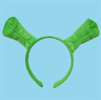 vendas circulares al por mayor-Halloween Niños Adultos Show Hair Hoop Shrek Horquilla Orejas Diadema Head Circle Party Disfraz Artículo Masquerade Party Supplies 300pcs