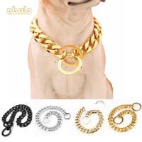 correas personalizadas al por mayor-Collar del gato del perro personalizada Abrrlo Collar para perro de acero inoxidable perro de perrito del gato collares para perros Mediano Grande Suministros correas para mascotas