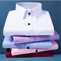 camisas brancas profissionais brancas venda por atacado-Noivo camisas Groomsman shirt Verão de negócio sólido manga curta Men Camisa do ferramental dos homens por atacado profissional formal, branco