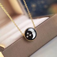 Wholesale 925 sun necklace for sale - Group buy 2019 New Charms Sun Moon Star Pendant Necklace Sterling Silver Fashion Chain Luxury Jewelry For Women Fine Bijoux cm