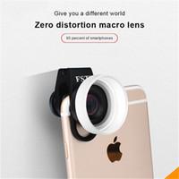 мобильное видео iphone оптовых-Профессиональный клип-объектив для телефона iPad 15X HD макро оптическое стекло мобильный телефон фото видео объективы камеры для iPhone XS X