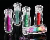 mini-glitzer-flaschen großhandel-Flasche Mini Kaviar Perlen Kristall kleine Strass Glas Micro Perle für Nägel DIY bunte 3D Glitter Nail Art Dekorationen