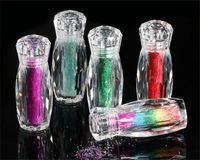 micro contas de unhas venda por atacado-Garrafa de Mini Grânulos De Cristal Minerais De Cristal De Vidro Do Rinoceronte Para As Unhas DIY Colorido 3D Glitter Decorações Da Arte Do Prego