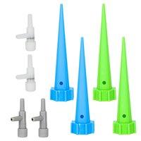 su şişesi sulama sivri uçları toptan satış-4pcs / Lot Ayarlanabilir Otomatik Sulama Sulama Setleri Bahçe Tesisi Çiçek Su Kontrolü Damla Koni Spike Şişe Sistemi
