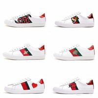 Wholesale big dog shoes for sale - Group buy Mens designer luxury shoes Casual Shoes white women sneakers good embroidery bee cock tiger dog fruit on the side OG