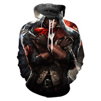 ingrosso assassini creed hoodie 4xl-New Hot Sale Assassins Creed Novità Streetwear Felpa con cappuccio Uomo Manica lunga Casual 3D Stampa Felpe Abbigliamento Hiphop