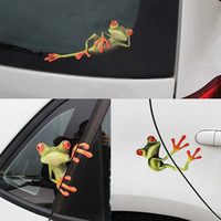 Wholesale auto body graphic stickers resale online - Car Sticker D Animal Peep Frog Funny Window Decals Waterproof Decals Auto Motorcycles Halloween Graphics Stickers Exterior Accessories