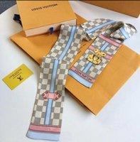 ingrosso belli nastri-Lotto 10pcs CALDO! La serie di tarocchi doppia stampa twill sciarpa delle donne bella decorazione piccolo nastro borsetta capelli collo polso nastro mix!