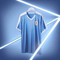 maillots de foot uruguay achat en gros de-2019 l'équipe nationale d'Uruguay à domicile maillot de foot blanc blanc 19/20 # 3 D.GODIN # 9 L.SUAREZ Hommes de Football Shirts Personnalisé de football maillots