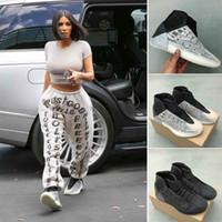 ingrosso scarpe da ginnastica fresche-Kanye West Quantum Top Basketball Shoes Mens di alta qualità 3M Reflective Designer Sport Sneakers Hi Cool Grey Nero Scarpe da corsa con la scatola