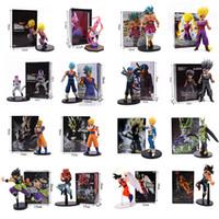 troncos de verduras al por mayor-Dragon Ball Super figuras juguetes de la muñeca de Dragon Ball Z Anime Saiyan Prince Vegeta Trunks Manga Son Goku Gohan figura de acción de colección modelo