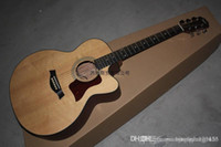 Wholesale fretboard acoustic guitar for sale - Group buy Classic Natural Taylor Acoustic Guitar Ebony Fretboard Fishmen Pickups with hard case edsw