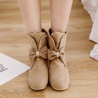 Wholesale euro style boots resale online - Big Size Fashion of Butterfly Knot and Boots in the Front of Increasing Sleeve in the Round Head Euro American Style
