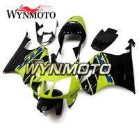 carenados honda sp2 al por mayor-Carenado completo de plástico ABS amarillo fluorescente negro para Honda VTR1000 RC51 SP1 SP2 2000 - 2006 01 02 03 04 05 06 VTR1000 carcasas de motocicleta