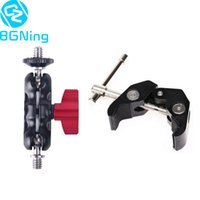 Wholesale head mount for camera resale online - Adjustable Magic Arm Super Clamp with Dual mm mm Ball Head Mount for DSLR Camera Motorcycle Car Bike Phone Holder Clip
