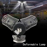 lager mais led birne großhandel-60 Watt Led Deformable Lampe Garage Licht E27 LED Mais Birne Radar Hause Beleuchtung Hohe Intensität Parkplatz Lager Industrielampe
