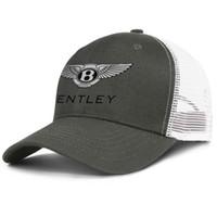 vintage de mulheres de chapéu preto venda por atacado-símbolo Bentley logotipo preto army_green para o projeto homens e mulheres tampão do camionista de beisebol cabido chapéus do vintage