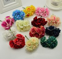 Wholesale marriage party decoration for sale - Group buy 6pcs blooming tree peony artificial flowers for wedding party home silk hats shoes decoration diy marriage garland plants