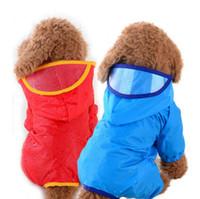 Wholesale fall clothes online - Waterproof Dog Raincoat Reflective Solid Pet Dog Clothes Raincoat Glisten For Small Medium Puppy Dog Raincoat MMA1279