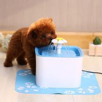 würfel haustiere großhandel-Automatisches Haustier-Katzen-Wasser-Trinkbrunnen 3-Stage-Filtration (verbessert) Cube Flower Style 2.5L-Hundetrinkschalen-Feeder-Katzenhunde