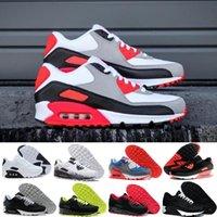 venta de zapatillas de aire al por mayor-nike air max 90 airmax  2018 Venta Caliente Cojín 90 Zapatos Corrientes de Los Hombres 90 de Alta Calidad Nuevas Zapatillas de Deporte Barato Zapato Deportivo Tamaño 40-45 R645