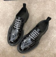 Wholesale comfortable wedding shoes low heel resale online - Top quality Cowhide Men round toe lace up low heel dress shoes Genuine leather male Comfortable oxford Shoes party wedding shoes