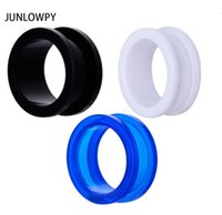 Wholesale gauge black tunnel plugs for sale - Group buy Acrylic Ear Plug Gauges Black White Blue Flesh Tunnel Body Jewelry Piercing Expander Stretcher Earring