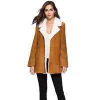 echtes lederjacken verkauf großhandel-2019 Ma'am New Pattern Echte Damen Damen Lederjacke große Lose Mantel Eine Art von chinesischem Kleidungsstück, das den Fro Sale knöpft